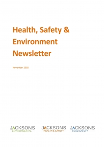 Health, safety and environment Newsletter for November 2018